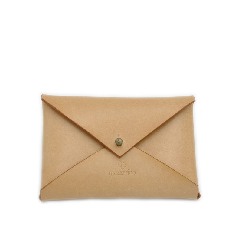 PORTE CARTES CUIR BUSTA MAZZARINO NATUREL 2