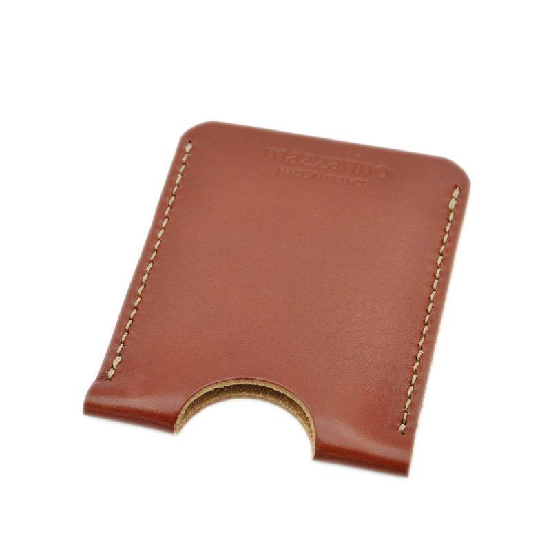 porte carte cuir marron mazzarino