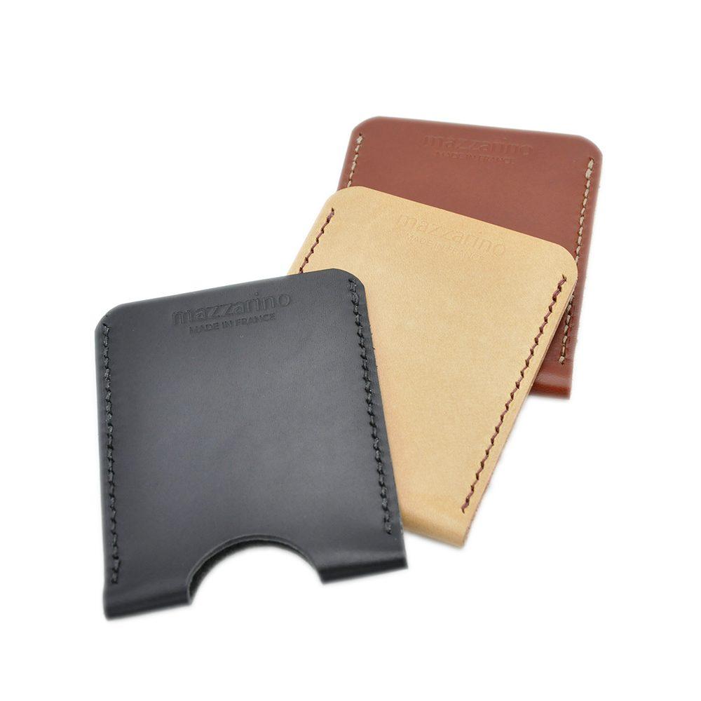 porte carte cuir mazzarino trio