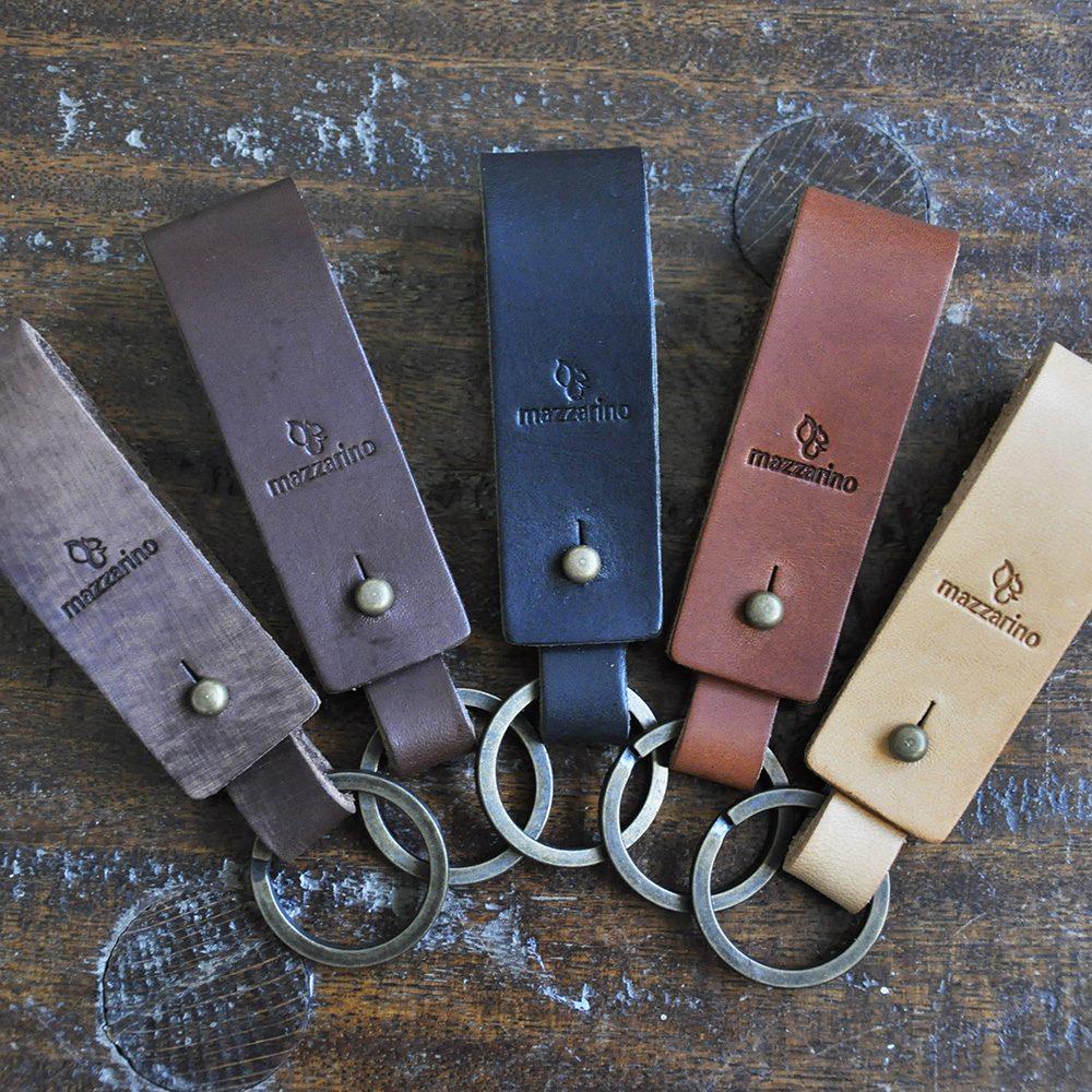 porte-clés en cuir etna mazzarino