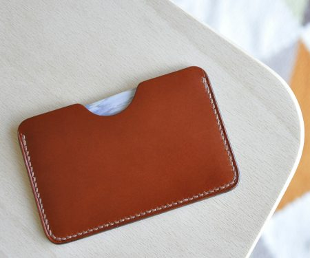 porte cartes cuir marron simple mazzarino BR
