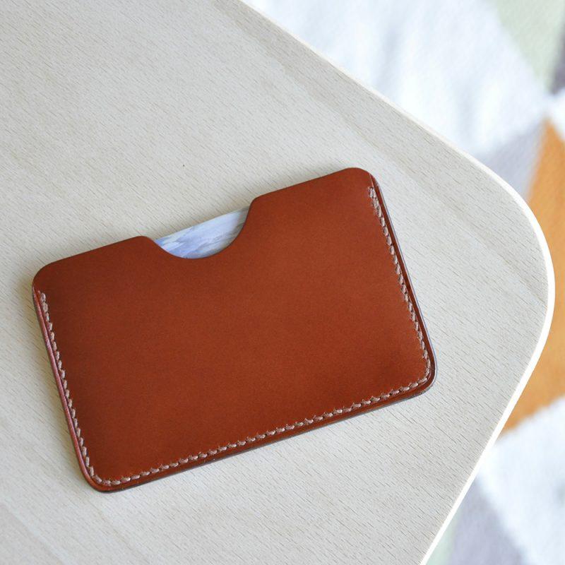 porte cartes cuir marron simple mazzarino BR